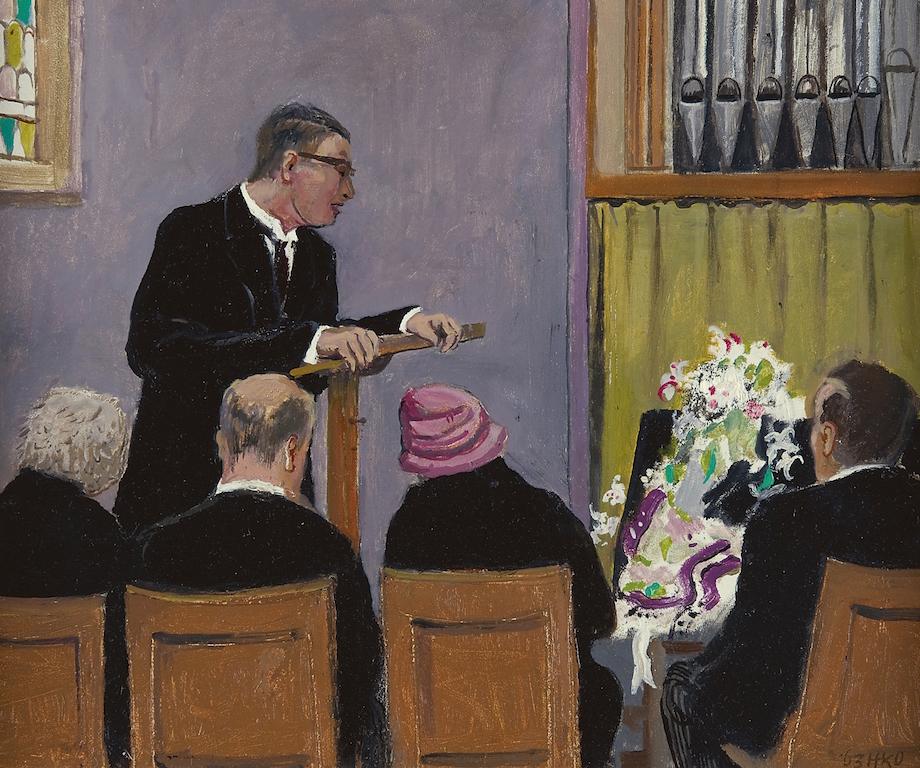 Schilderij van Kamerlingh Onnes De Herdenking